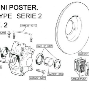 KIT PERNI E CLIP FERMA PASTIGLIE FRENI POST E TYPE SERIE 2