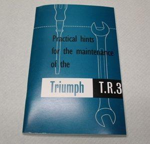 MANUALE USO E MANUTENZIONE TRIUMPH TR3