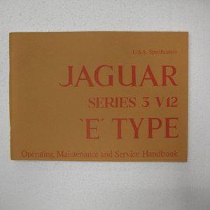 MANUALE USO E MANUTENZIONE E TYPE V12 IN INGLESE