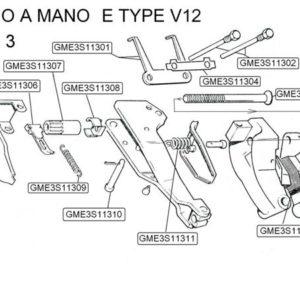 BULLONE REGISTRO FRENO A MANO E TYPE V12