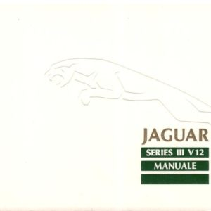MANUALE USO E MANUTENZIONE  XJ12 SERIE 3 IN ITALIANO