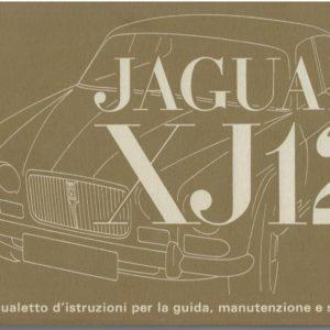MANUALE USO E MANUTENZIONE XJ12 SERIE 1