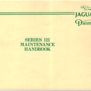 MANUALE SOLO MANUTENZIONE XJ SERIE 3