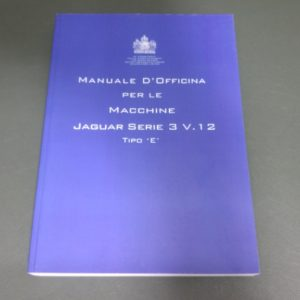 MANUALE DI OFFICINA E TYPE V12 IN ITALIANO