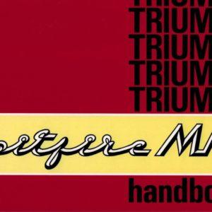 MANUALE USO E MANUTENZIONE TRIUMPH SPITFIRE MK3