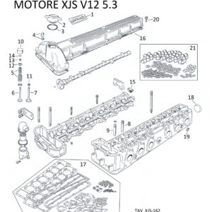 SET GUARNIZIONI TESTA XJS V12