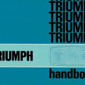 MANUALE USO E MANUTENZIONE TRIUMPH TR6