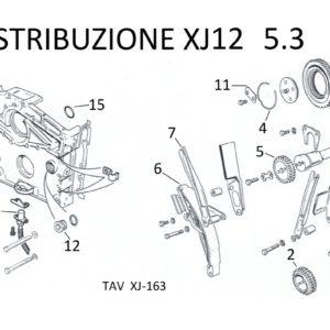 CATENA DISTRIBUZIONE XJ12 SERIE 2